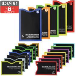 14 Pack RFID Blocking Sleeves Credit Card Protector & 5x Pas