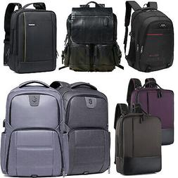 """15.6"""" 17 inch Laptop Backpack USB Waterproof Business Travel"""