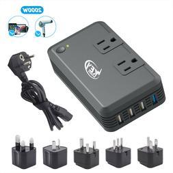 Key Power 220 V to 110V Voltage Converter International Trav