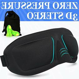 3D Sleep Mask AMAZKER Lightweight Upgraded Contoured Comafor