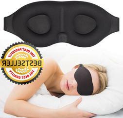 3D Travel Sleep Eye Mask - Eyepatch Memory Foam Padded Shade