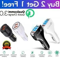 4 Port 2 Port USB QC 3.0 Fast Car Charger for Samsung iPhone