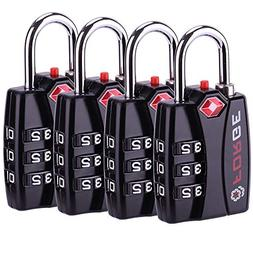 4 Set TSA Approved Locks Travel Cable Bag Luggage Master Key