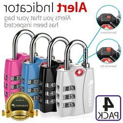 4x  3 Digit Alert Indicator Travel Luggage Bag Lock Padlock