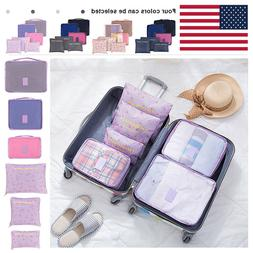 6-Pack Travel Organizers Packing Cubes Set Luggage Accessori