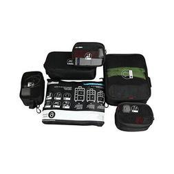 Rockland Luggage 6 Piece Smartpack Cubes - Black Packable Ba