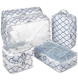 6 Set Luggage Organizer- Clothes Storage Bags-Packing Cubes-