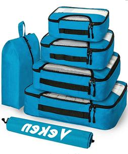 Veken 6 Set Packing Cubes, Travel Luggage Organizers with La