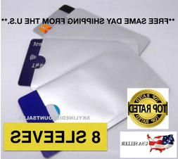 8 PACK HIGH LEVEL RFID Blocking Credit Card Sleeve Protector