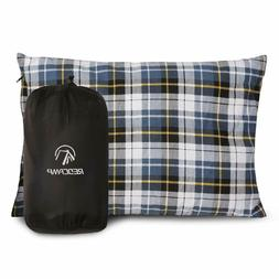 REDCAMP Outdoor Camping Pillow Lightweight Flannel Travel Pi
