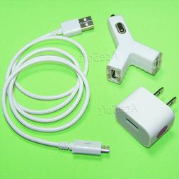 Accessory High Power Travel Adapter Dual Car Charger Cable f