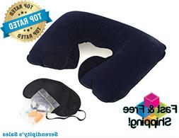 Airplane Accessories Compact Inflatable Travel Neck Pillow E
