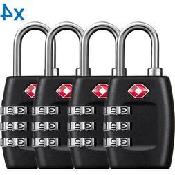 BG 4 x TSA Lock Travel Luggage 3 Digit Combination Resettabl