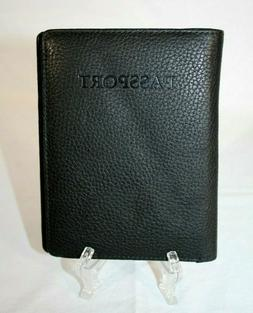 WILSONS LEATHER Black Travel Accessories Passport Organizing