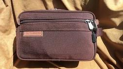 Briggs & Riley 110 Burgundy Nylon Toiletry Kit