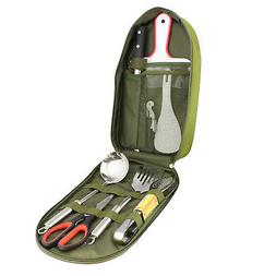Camping Utensil Outdoor Cooking Accessories 8pc Set Travel C