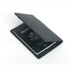 Carbon Fiber Men's RFID Security Passport Clip Card Holder B
