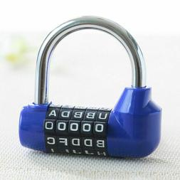 Combination Coded Padlock Plastic Shell Stainless Steel Shac
