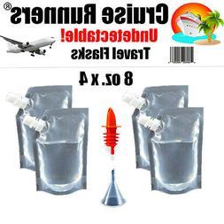Cruise Plastic Travel Flask Kit Runners Rum Alcohol Liquor S