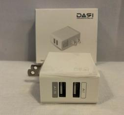 Dual Port USB Wall Charger Cell Phone Travel Accessory 1A 2.