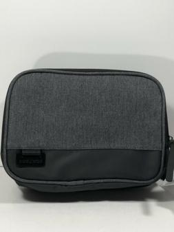 Swiss Gear Dual Pouch Travel Toiletry Bag ~ Heather Gray~Sha
