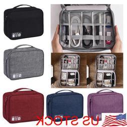 Electronics Accessories Organizer Travel Bag Storage USB Dri