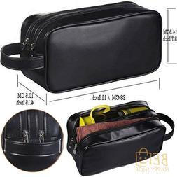 Genuine Leather Dopp Kit Shaving Accessory Toiletry Travel B