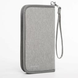 Inateck Gray Travel Wallet Passport Holder Family Document C