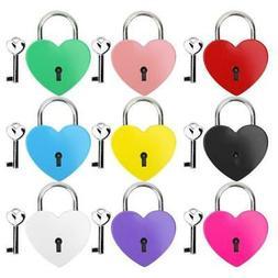 Heart Lock Metal Colorful Padlock Household Supplies +Key