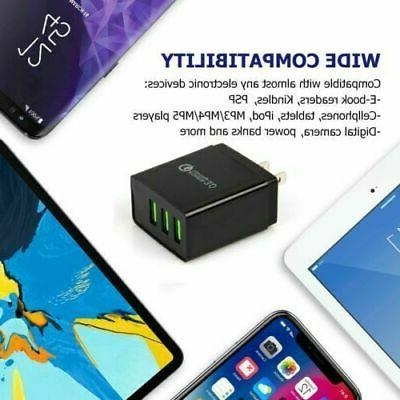 3 3.0 Wall Fast Charger LED Power Adapter US Plug