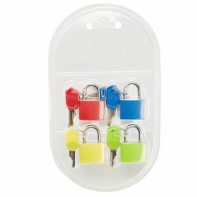 4 pack mini padlock luggage locks