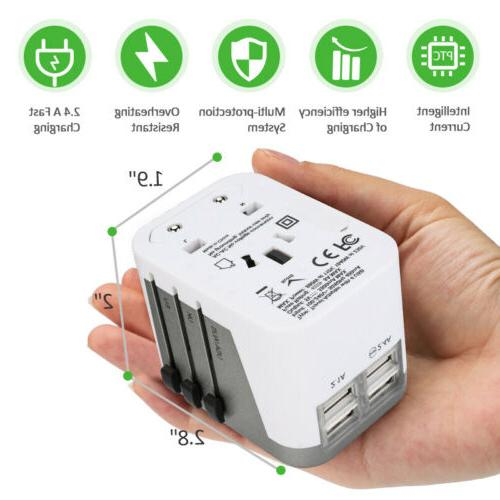 4 USB Ports Travel Wall Charger Converter