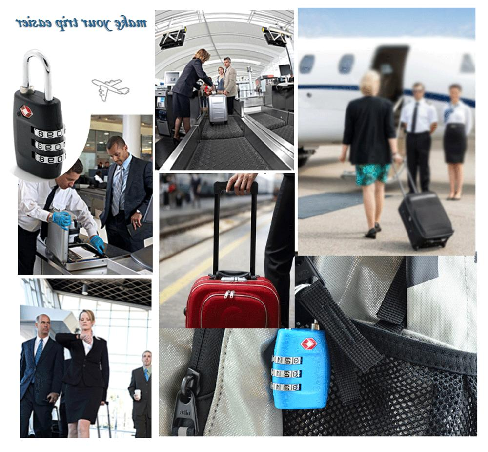4x TSA Lock Luggage Combination Padlock