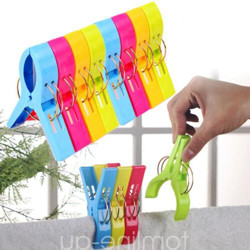 8 Pcs Beach Towel Laundry Sunbed Clothespins Pegs