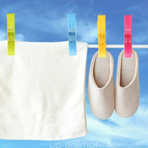 8 Pcs Towel Clamp Set Laundry Sunbed Lounger Clothespins Pegs