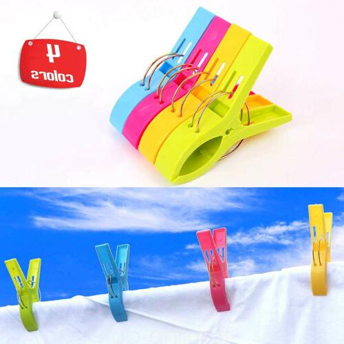 8 Pcs Towel Laundry Sunbed Lounger Clothespins Pegs