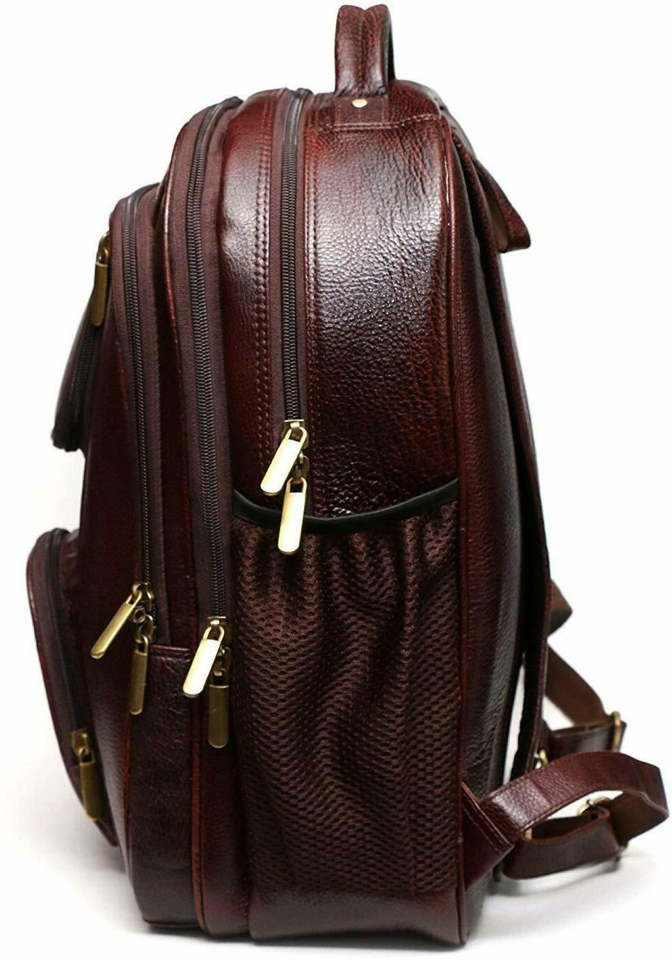 Jackmia 17 Inch Brown Backpack Travel 1