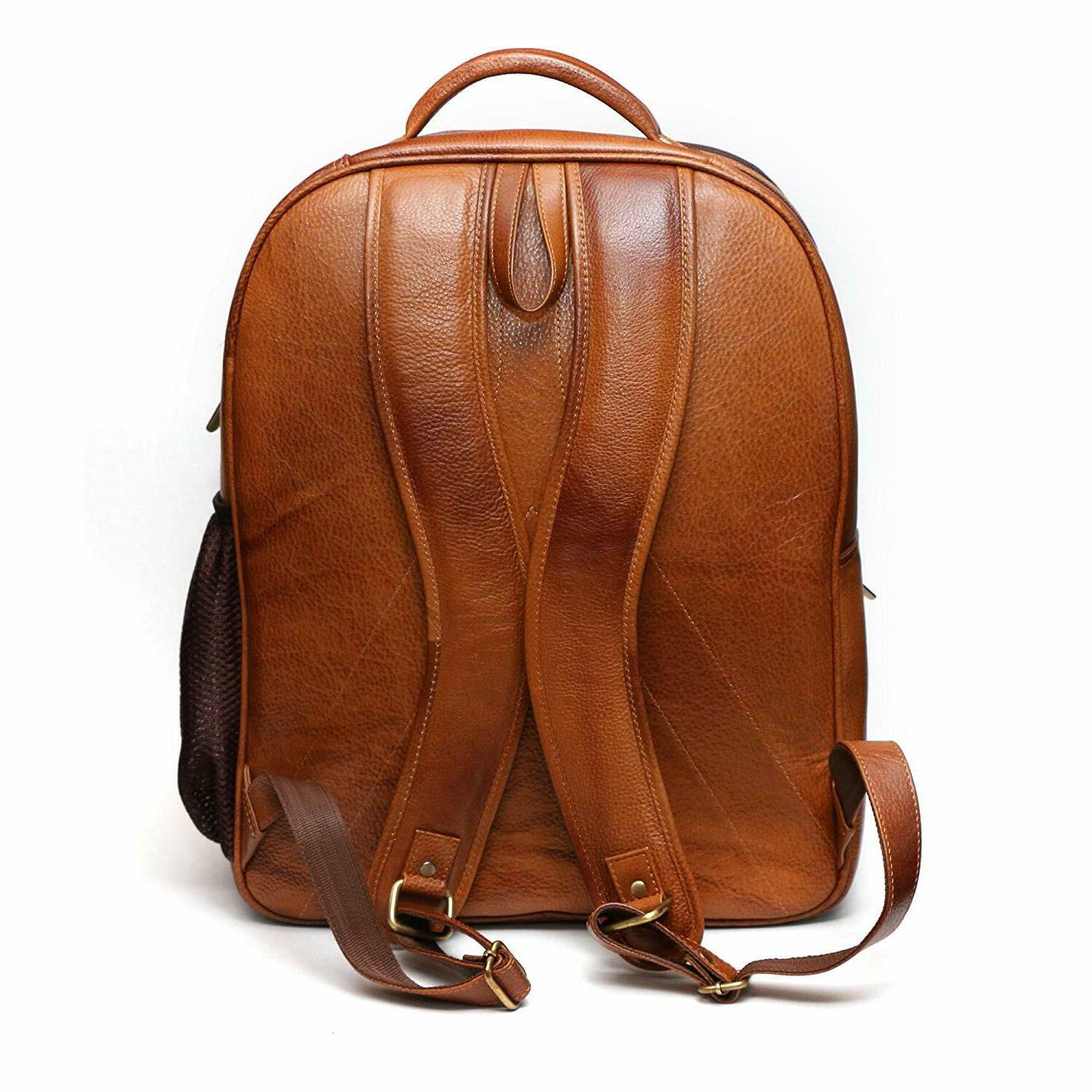 Jackmia Leather Accessories Brown Laptop Bag