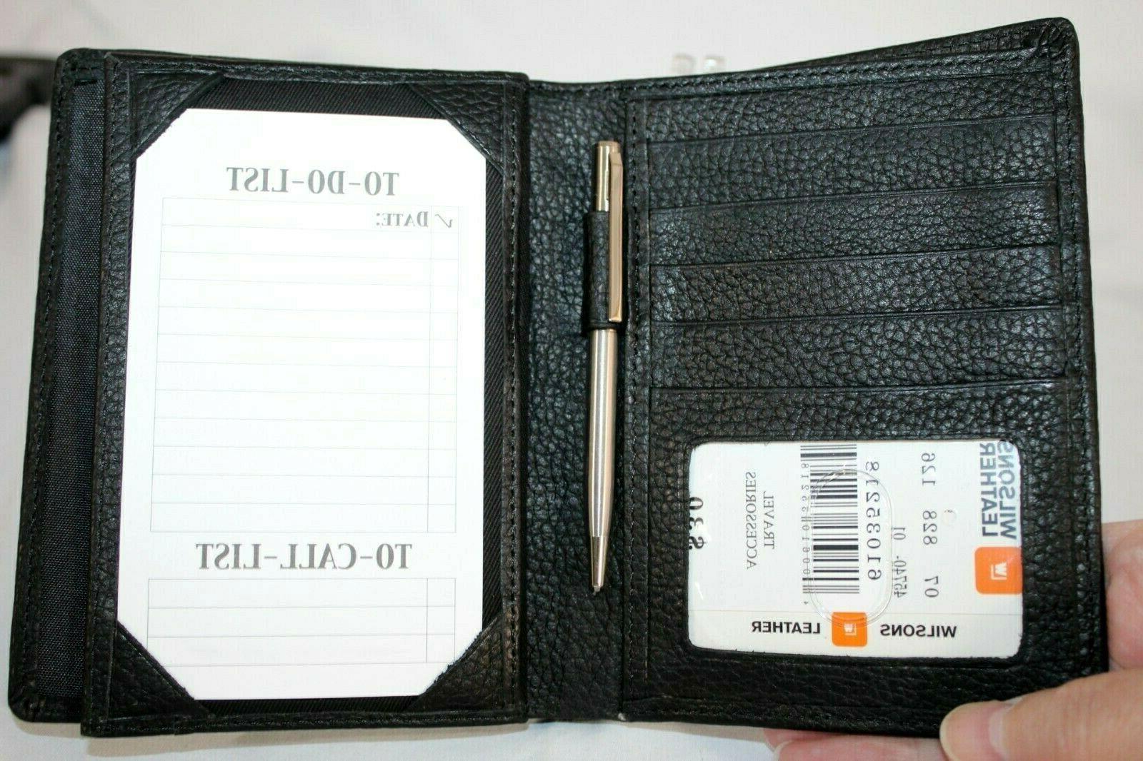 WILSONS LEATHER Travel Accessories Passport Organizing NEW