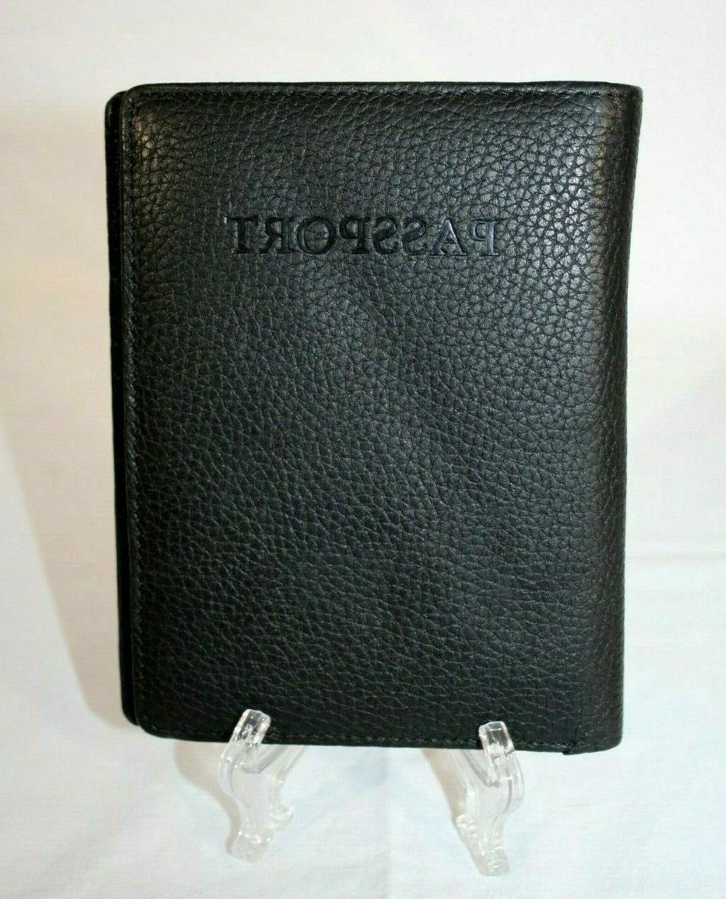 black travel accessories passport organizing wallet new