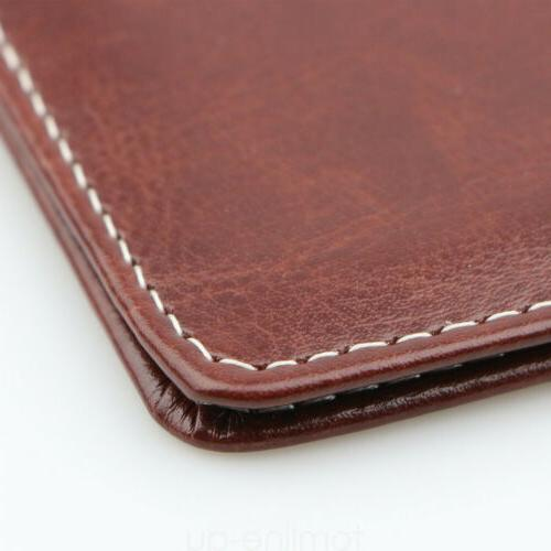 Brown PU Cover Card US