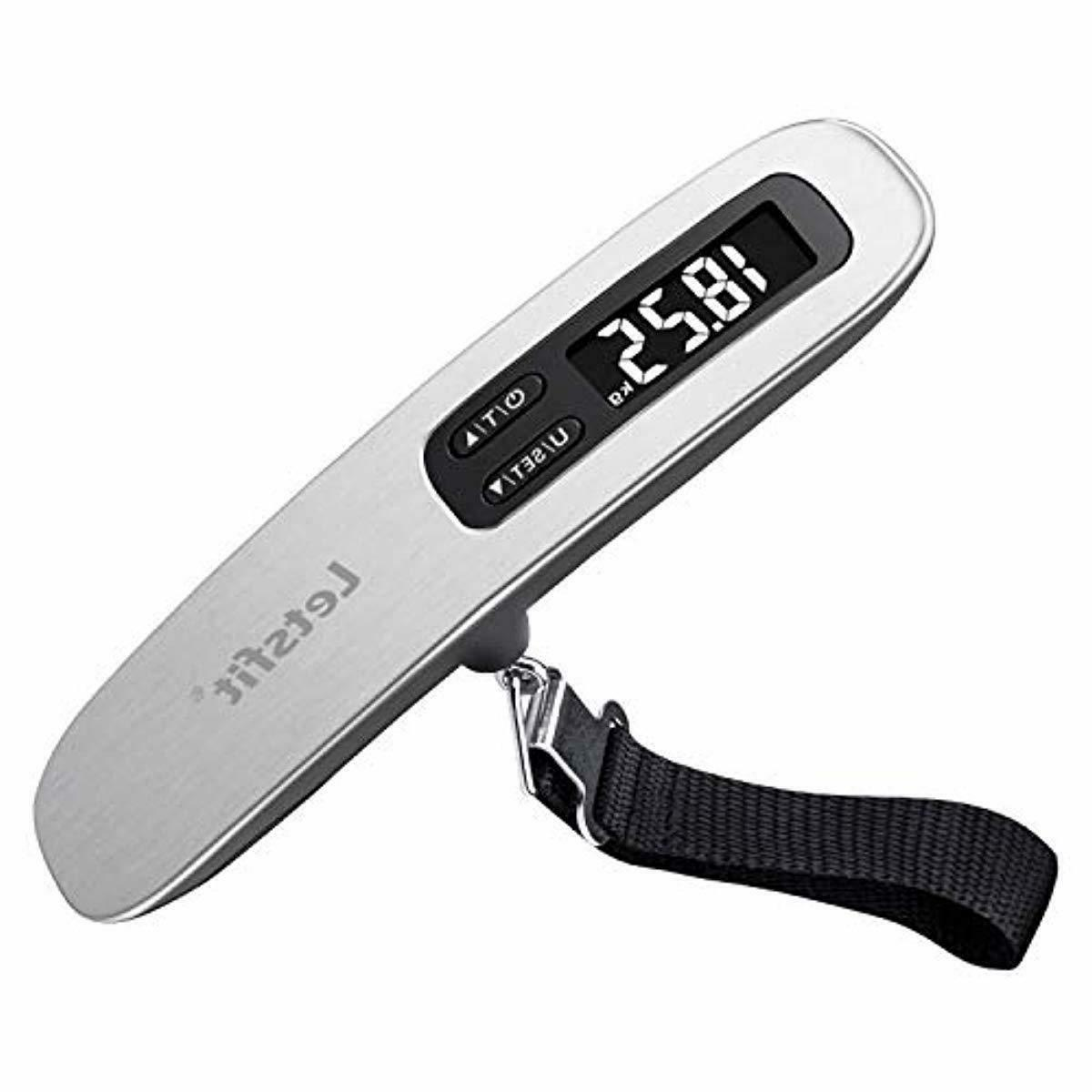 digital luggage scale with hook strong straps