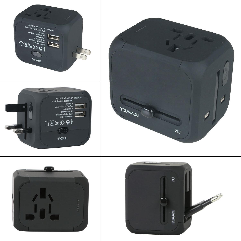 Dual AU/UK/US/EU Universal Travel Adapter