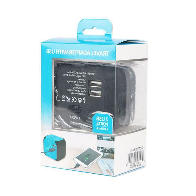 Dual AU/UK/US/EU Adapter Plug Converter