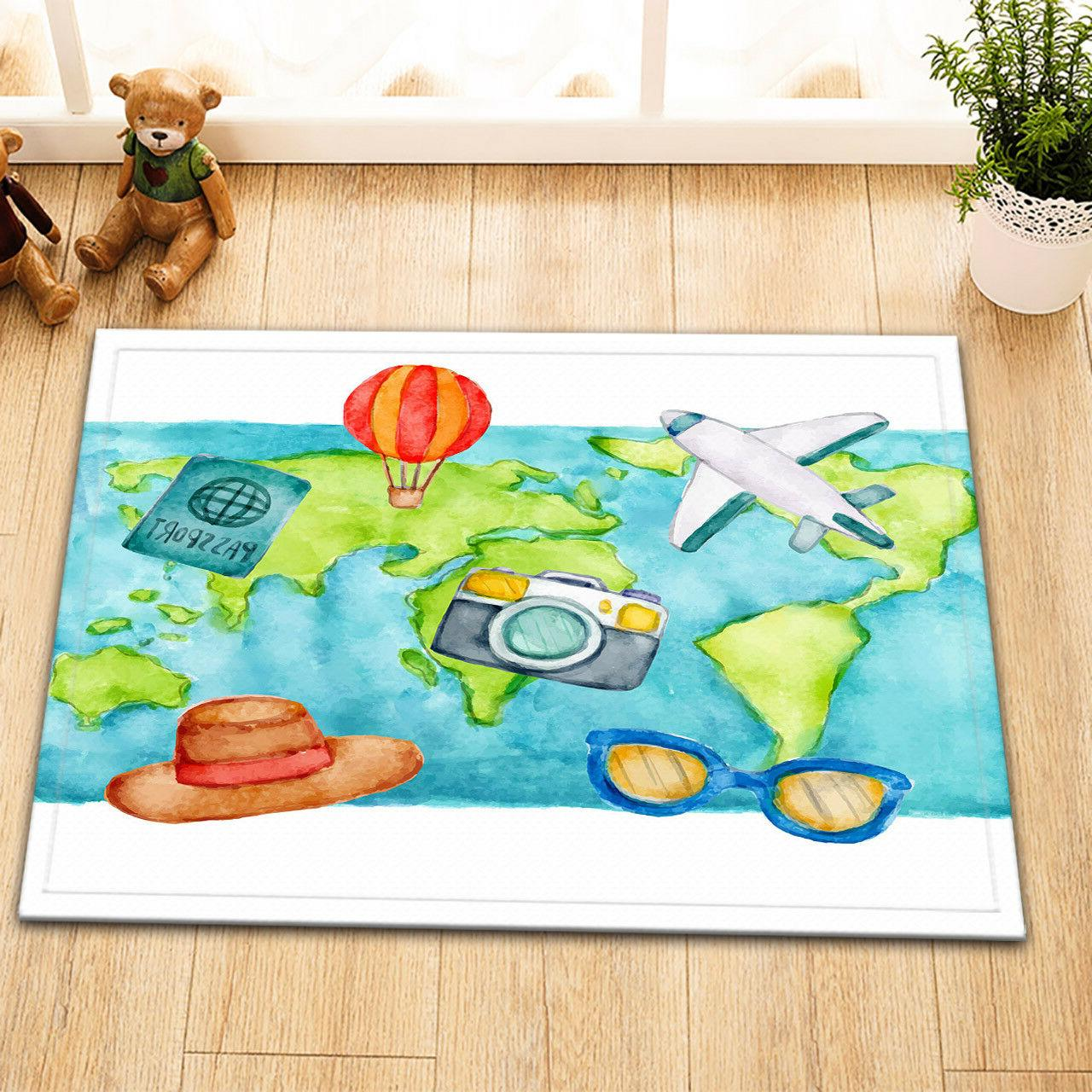Fabric Shower World Travel Bath Accessory Sets Mat