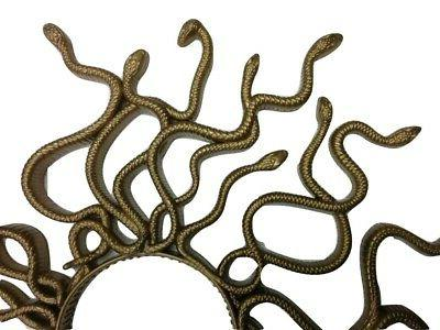 Gold Medusa Headpiece Mythology Accessory Womens
