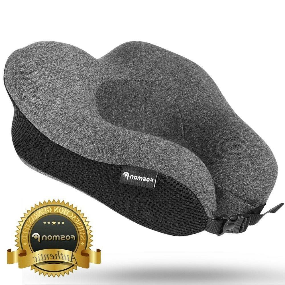 U-Shaped Memory Foam Rebound Travel Pillow Neck Support Head
