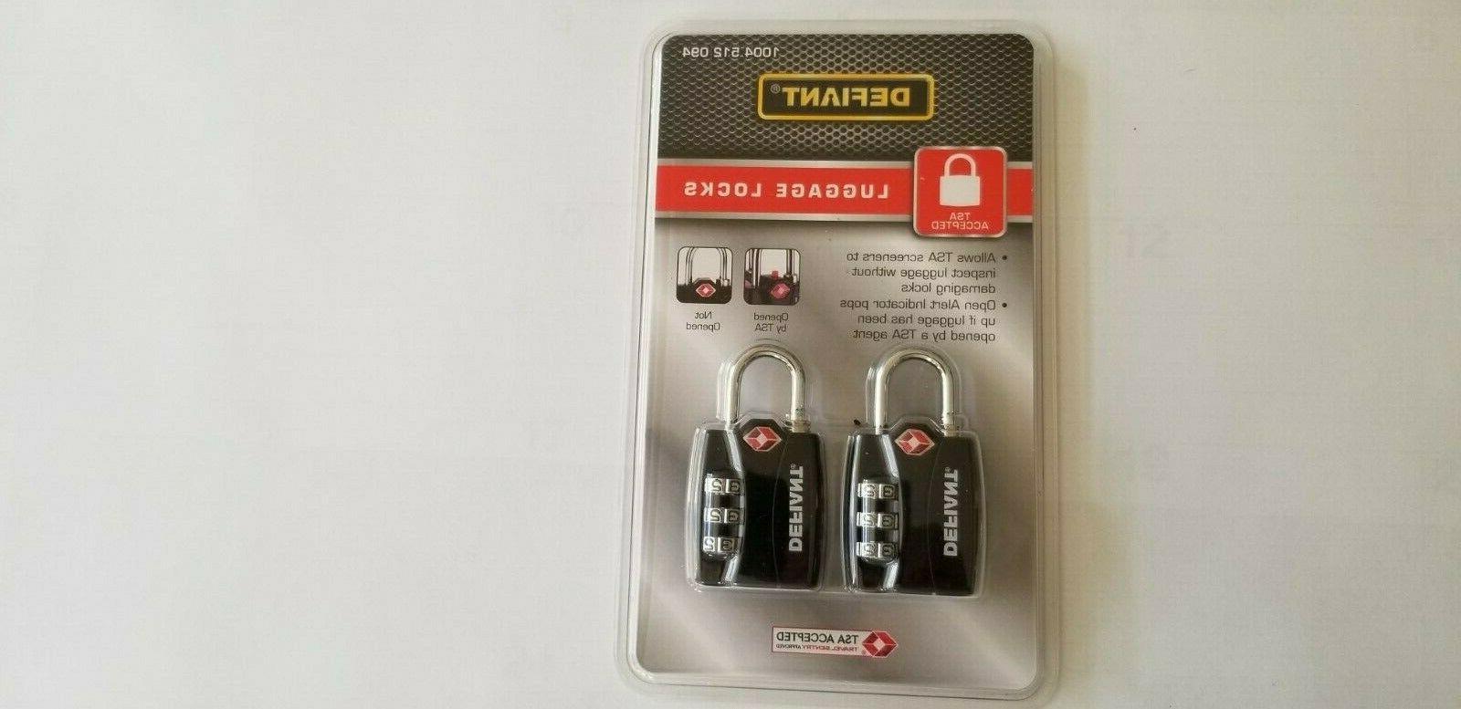 new 2 pack luggage locks open alert