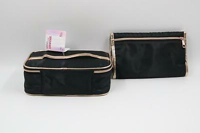 NEW Bundle 360 Train Case + Cosmetic Bag Make Women's