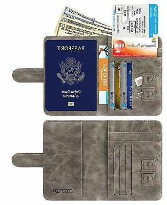 Passport RFID Leather Case